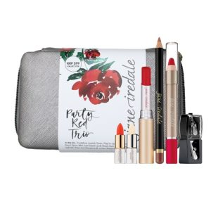 Jane Iredale makeup kit - party red trio